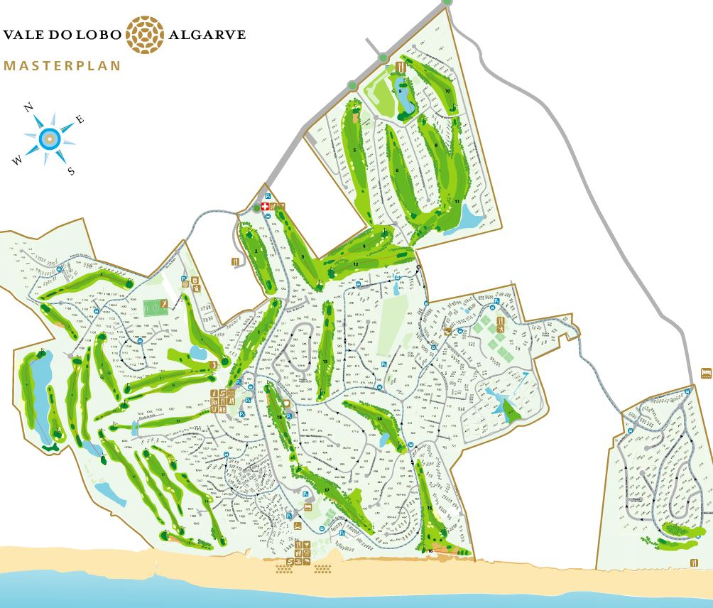 Vale do lobo master plan map
